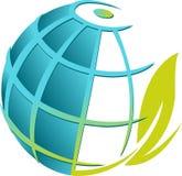 Globe leaf Royalty Free Stock Photos