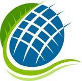 Globe leaf logo Stock Photography