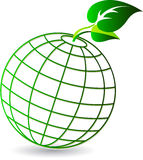 Globe leaf logo Stock Photography