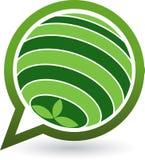 Globe leaf logo Royalty Free Stock Image