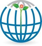 Globe leaf logo Stock Image