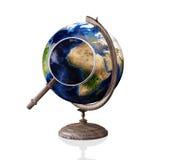 Globe, lens Stock Images