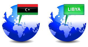Globe with Libyan Royalty Free Stock Image