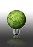 Globe light bulb Royalty Free Stock Photo