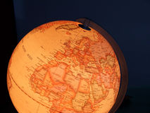 Globe lighted. Galaxy Royalty Free Stock Images