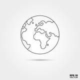 Globe Line Icon. Earth Globe Line Icon Vector Stock Image