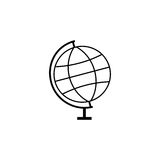 Globe line icon, school and education element Royalty Free Stock Images