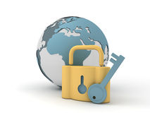 Globe and lock Royalty Free Stock Photo