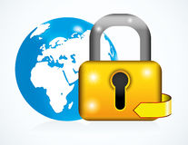 Globe and lock Royalty Free Stock Image