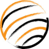 Globe logo Royalty Free Stock Image