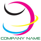 Globe logo. Earth logo icon four colours Stock Photography