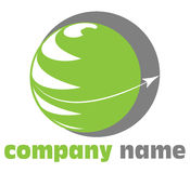 Globe logo. Computer generated globe logo on white background Stock Photos