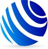 Globe logo. Illustration drawing of a globe logo with isolated background vector illustration