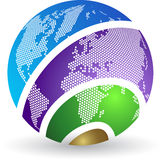 Globe logo Royalty Free Stock Images