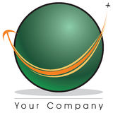 Globe logo. A globe logo to travel company royalty free illustration