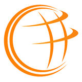 Globe logo Stock Photography