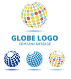 Globe Logo. Abract Multi Color Globe Logo, 3 Versions Royalty Free Stock Photography