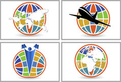 Globe logo collections Royalty Free Stock Photos