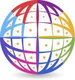 Globe logo Royalty Free Stock Photo