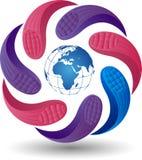 Globe logo Royalty Free Stock Photos