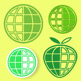 Globe logo set Royalty Free Stock Photography