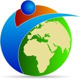 Globe logo Stock Photo
