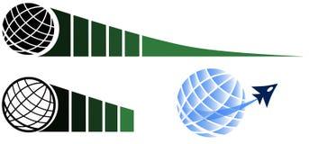 set of Globe logos isolated Royalty Free Stock Photography