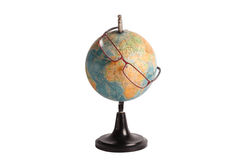 Globe looking through the glasses Royalty Free Stock Photo