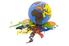 Globe loosing color. Child's globe loosing color stock illustration