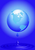 Globe loses water on drop Stock Photos