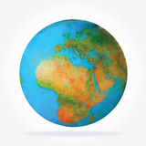 Globe low poly Stock Images