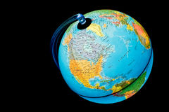 Globe lumineux - l'Amérique du Nord et Océan atlantique Photos stock