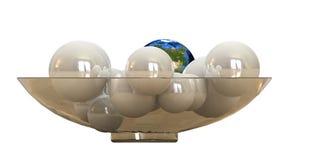 Globe lustré Images libres de droits
