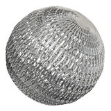 Globe made of chrome chains Stock Image