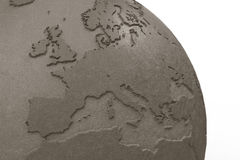 Globe made of clay closeup Royalty Free Stock Photos