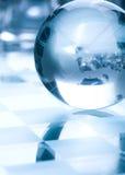 Globe made of glass Stock Image