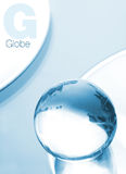 Globe made of glass Royalty Free Stock Photos