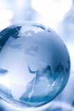 Globe made of glass Stock Images