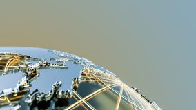 Globe made of glass and metal Royalty Free Stock Image