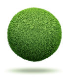 Globe made of grass Royalty Free Stock Photo