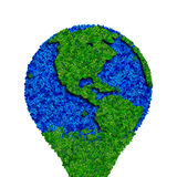 Globe made from leaves, green eco earth. Ecology planet with with leaves around. eco earth. Eco globe, eco planet Royalty Free Stock Photos