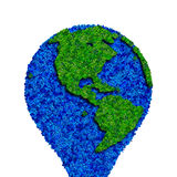 Globe made from leaves, green eco earth. Ecology planet with with leaves around. eco earth. Eco globe, eco planet Stock Photography