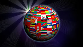 Globe made from nation flags stock video