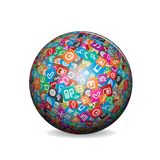 Globe made from a Social Media and Web Icons. Royalty Free Stock Photography