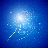 Globe magique à disposition Photos stock