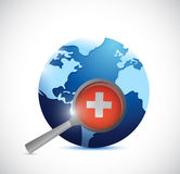 Globe and magnifier illustration design Royalty Free Stock Photography