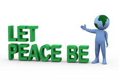Globe man let peace be Stock Photo