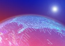Globe map. Usa east coast royalty free illustration