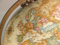 Globe map stock images
