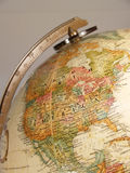 Globe map stock image